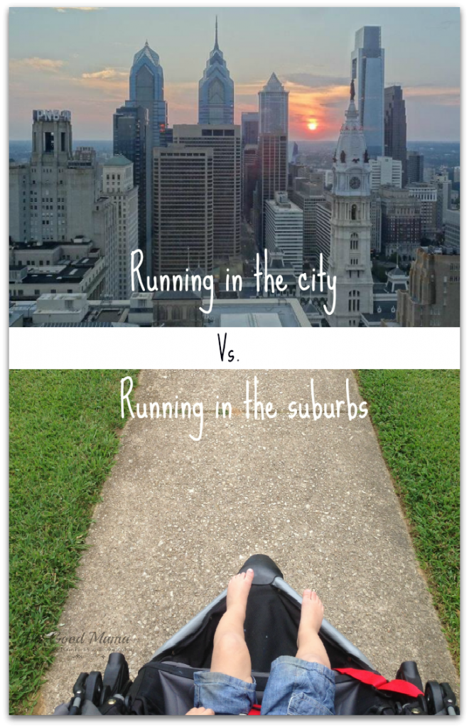 Running in the city vs running in the suburbs via http://www.thegoodmama.org