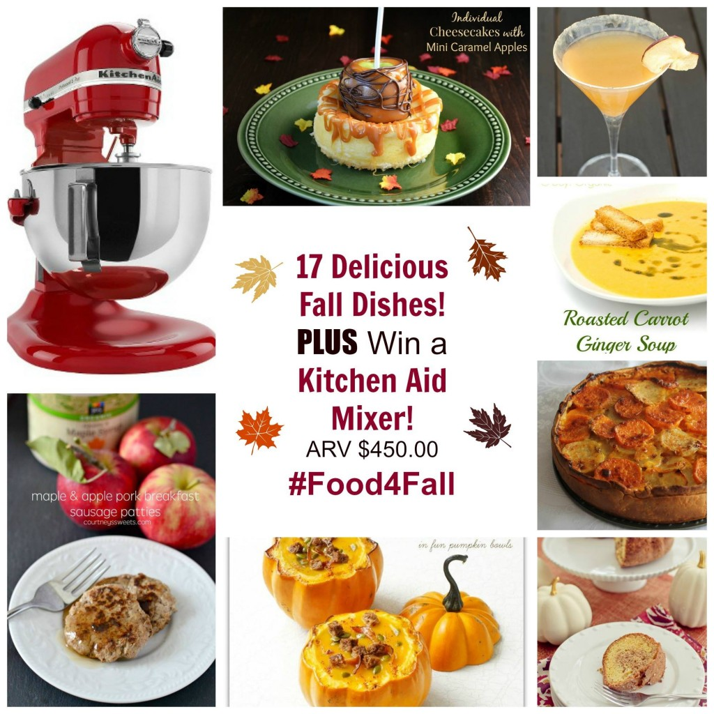 17 Delicious Fall Dinners PLUS Win a Kitchen Aid Mixer!! #Food4Fall