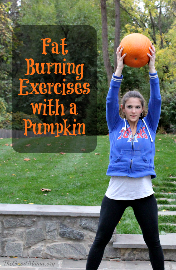 Fat Burning Exercises with a Pumpkin- I definitely trying this workout this Fall!