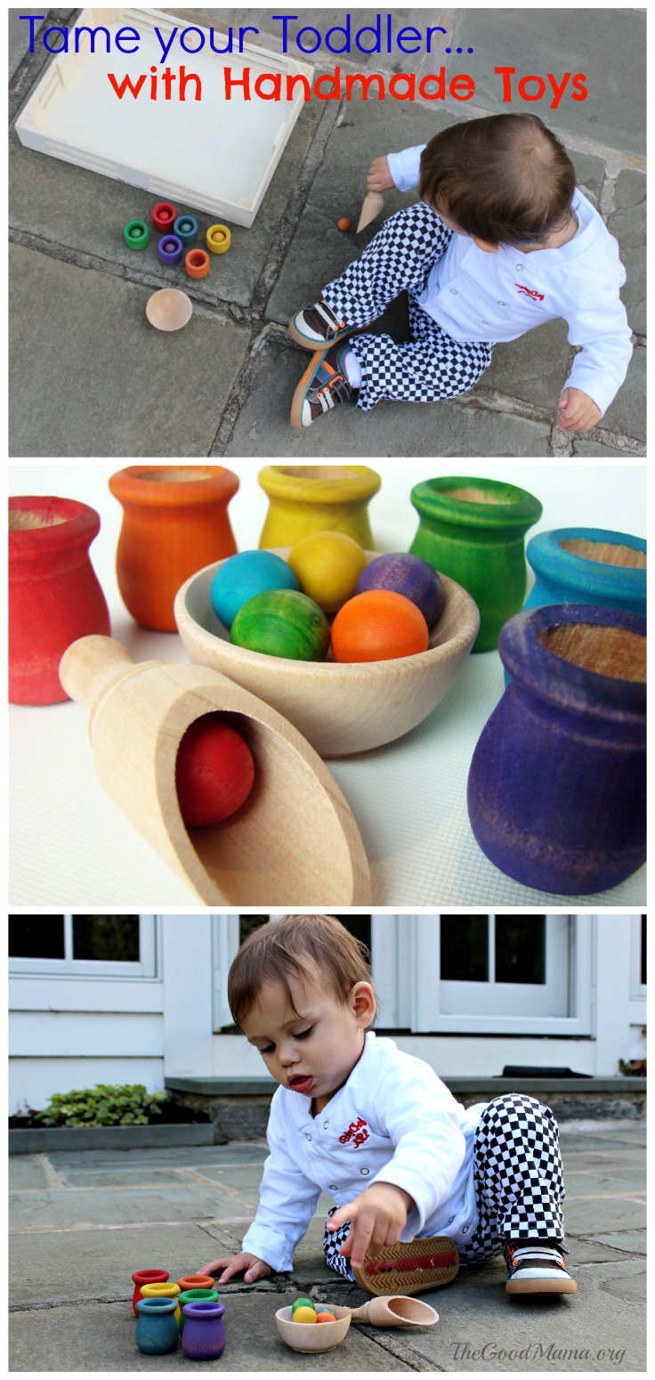 Tame Your Toddler with Beautiful Handmade, Wooden Toys. Adding these to my Christmas shopping list!