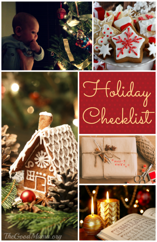 Holiday Checklist with a Free Printable
