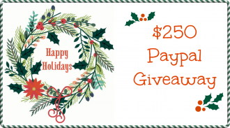 Happy Holidays Paypal Giveaway for $250!