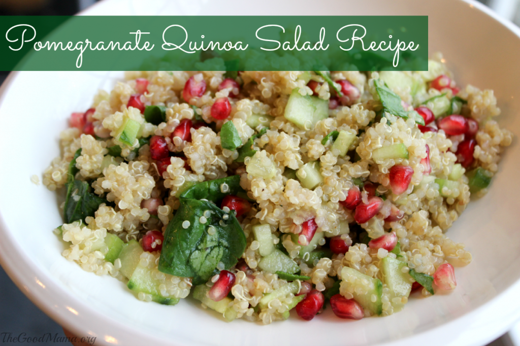 Pomegranate Quinoa Salad Recipe- perfect for the Holiday season