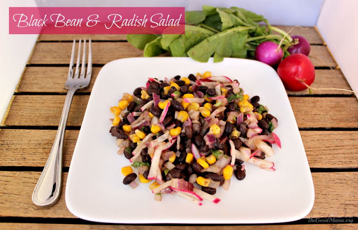 Black Bean & Radish Salad Recipe