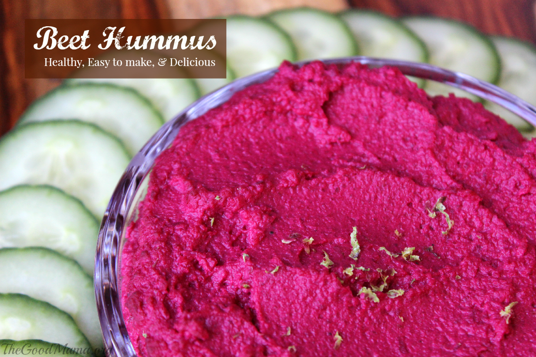 Beet Hummus Recipe - The Good Mama