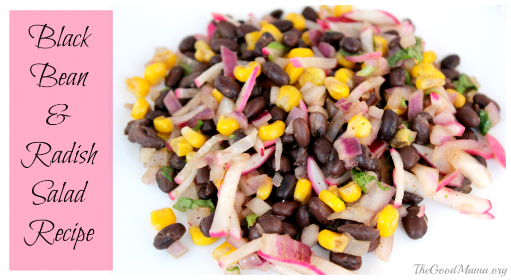 Black Bean and Radish Salad Recipe- Gluten Free, Diary free, Vegan