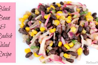 Black Bean and Radish Salad Recipe- Gluten Free, Diary free, Vegan