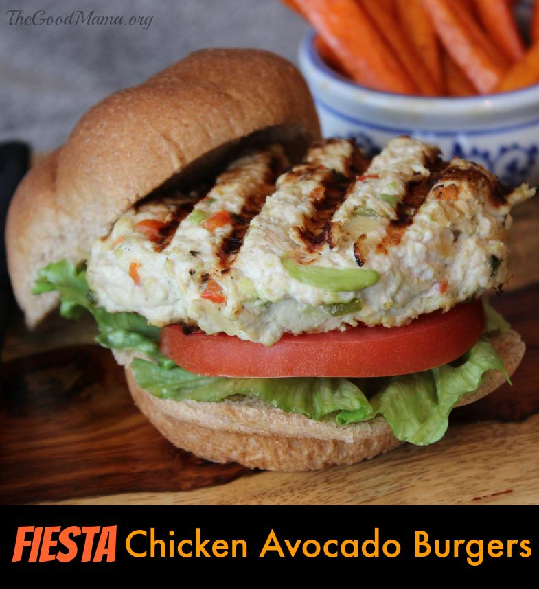 Fiesta Chicken Avocado Burger Recipe