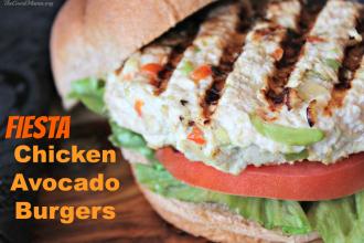 Fiesta Chicken Avocado Burgers- Easy to make, Healthy, and SO tasty!