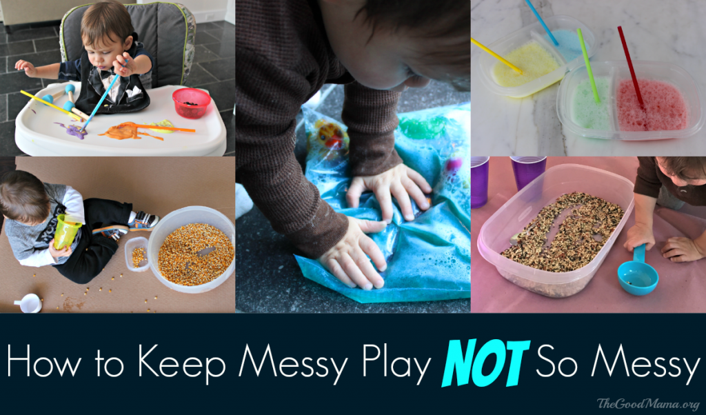 How to Keep Messy Play Not So Messy