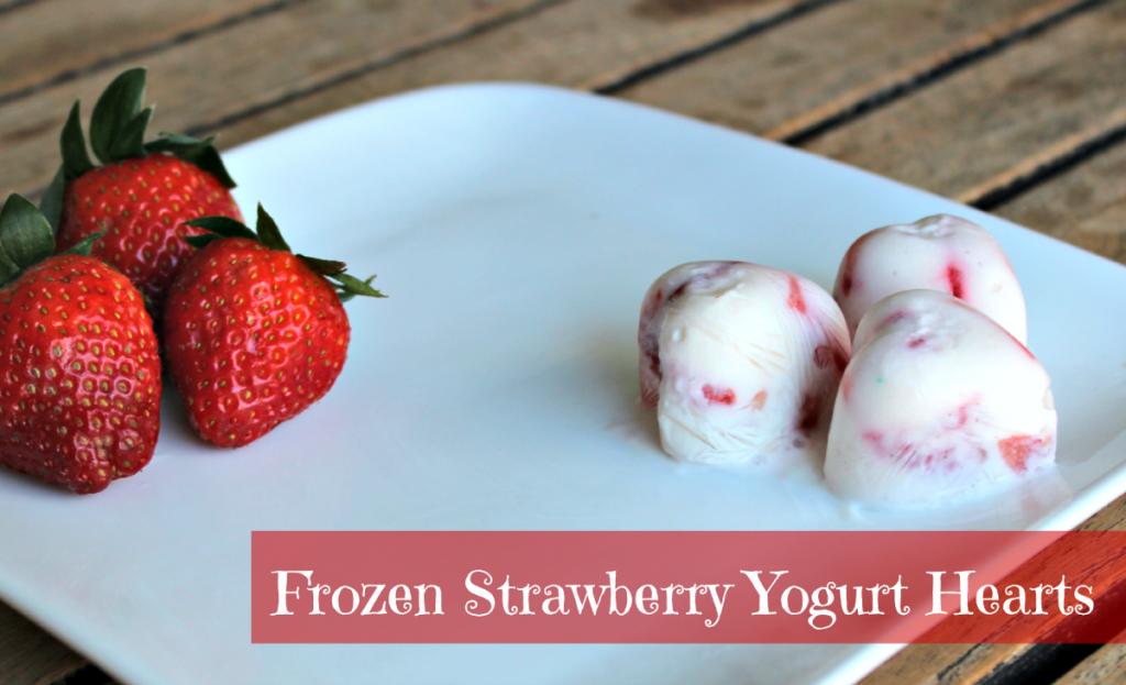 Frozen Strawberry Yogurt Hearts- Perfect for Valentine's Day!