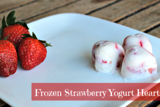 Frozen Strawberry Yogurt Hearts- Perfect for Valentine's Day!