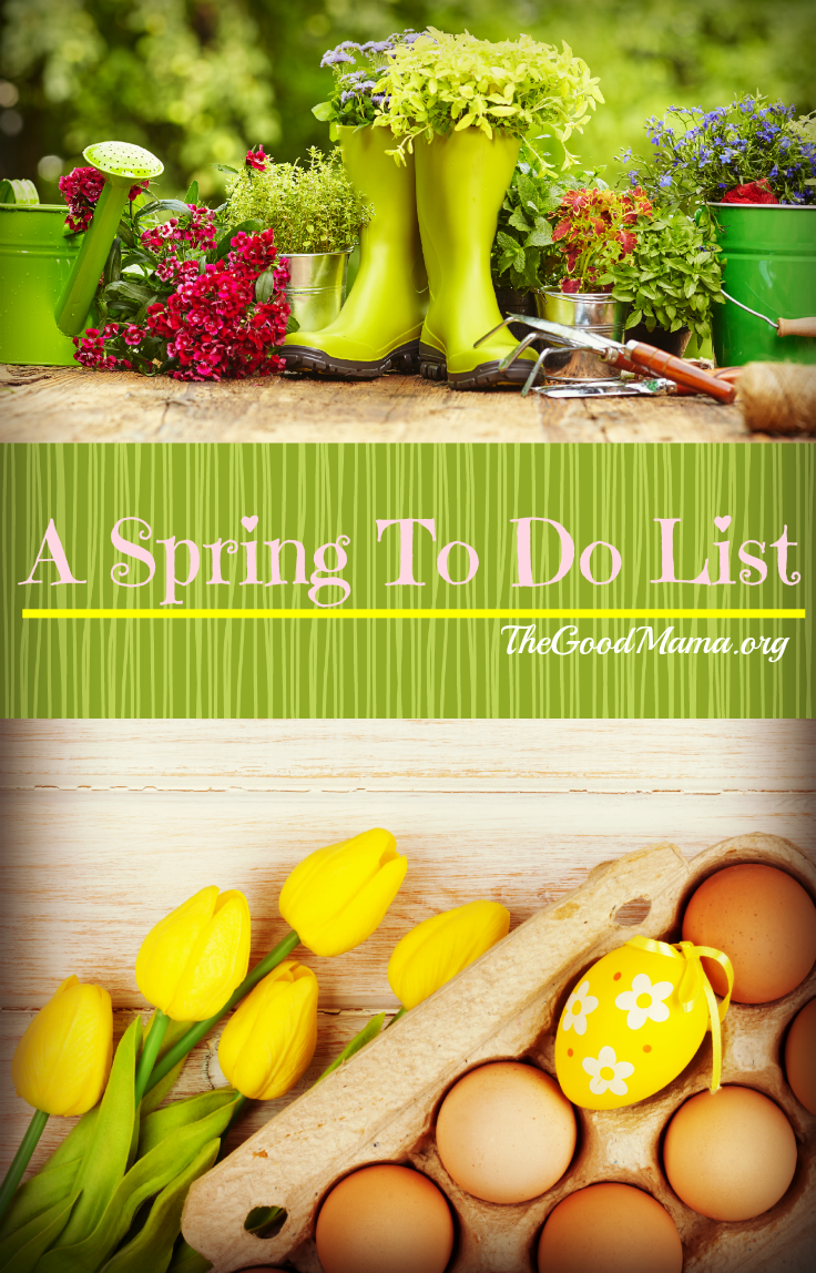 A Spring To Do List- Over 30 ideas of spring activities for you and your toddler.