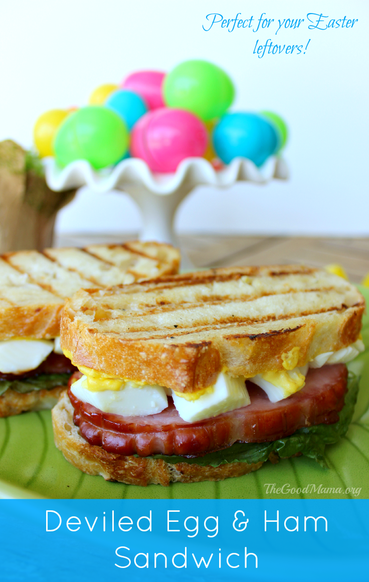 Deviled Egg and Ham Sandwich- Perfect for your Easter leftovers! PLUS, more Easter recipes and activities.