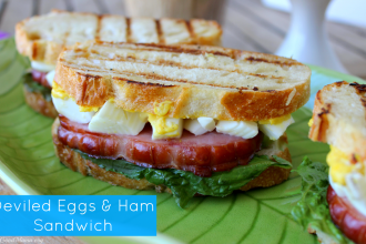 Deviled eggs and ham sandwich-perfect for your Easter Leftovers! PLUS, lots of other Easter dishes and activities