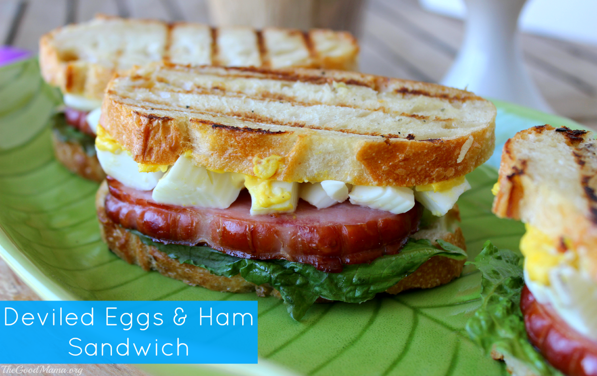 Deviled Eggs and Ham Sandwich Recipe - The Good Mama