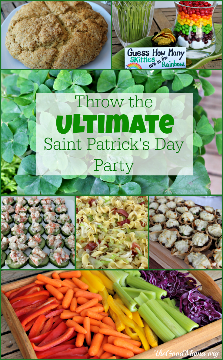 Throw the Ultimate Saint Patrick's Day Party- decor and recipe ideas!