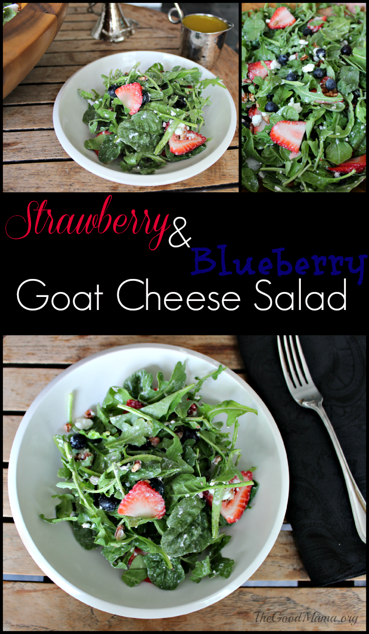 Strawberry & Blueberry Goat Cheese Summer Salad Recipe