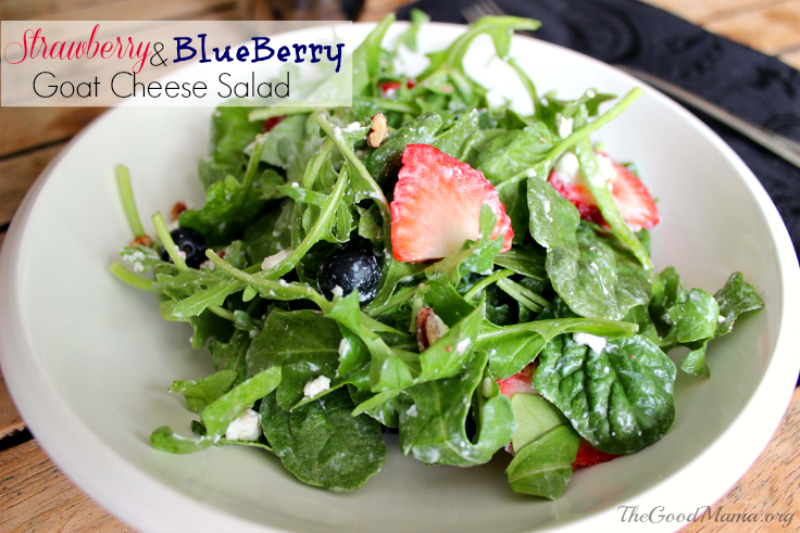 Strawberry & Blueberry Goat Cheese Salad Recipe