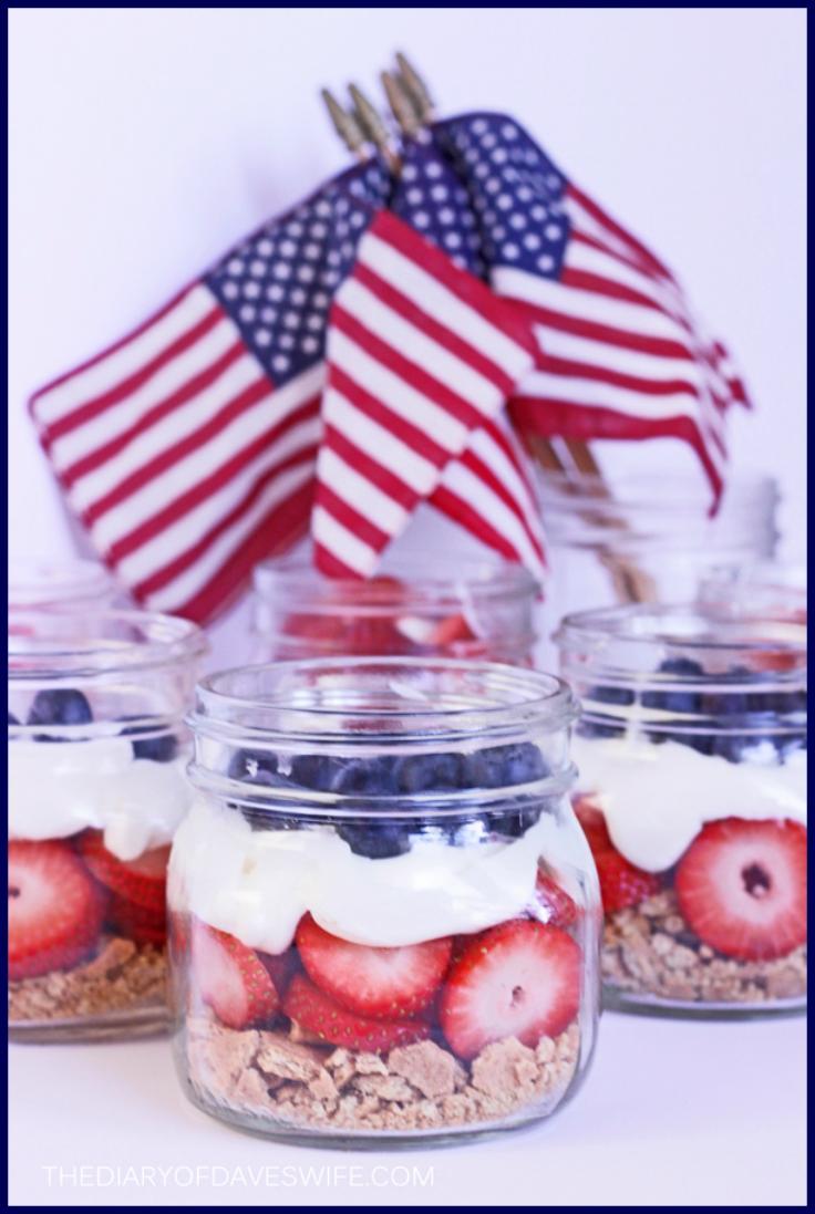 Perfectly Healthy Patriotic Recipes- Patriotic Parfait