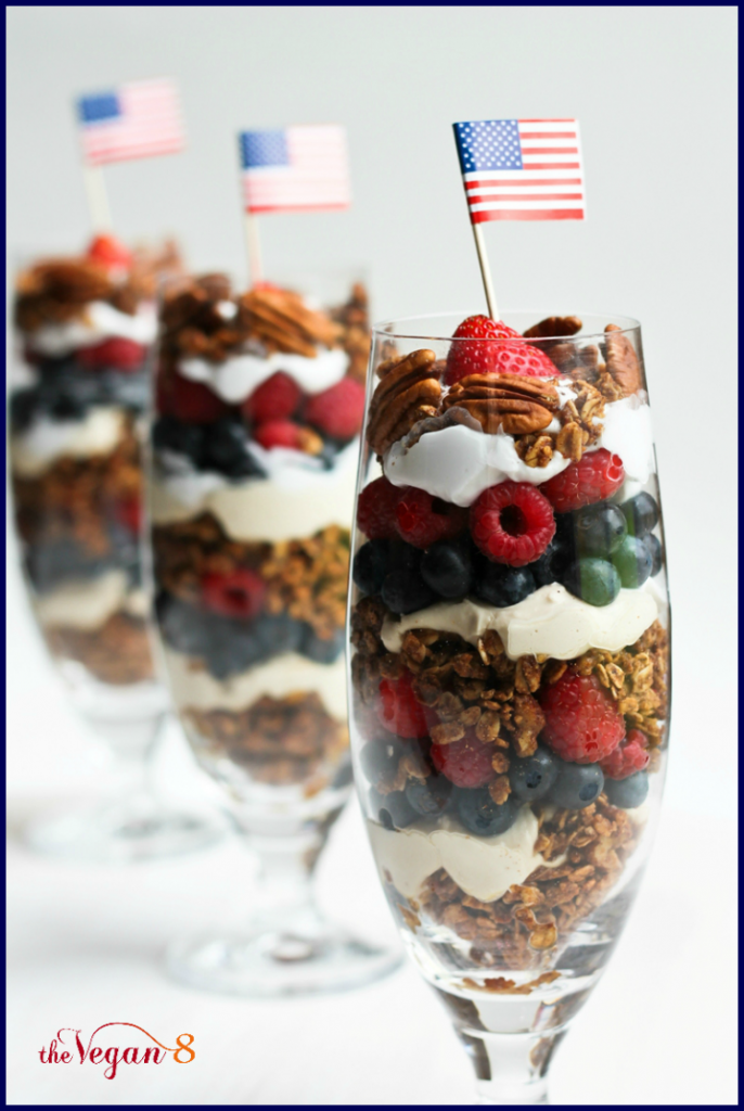 Perfectly Healthy Patriotic Recipes- 4th of July Granola Parfait