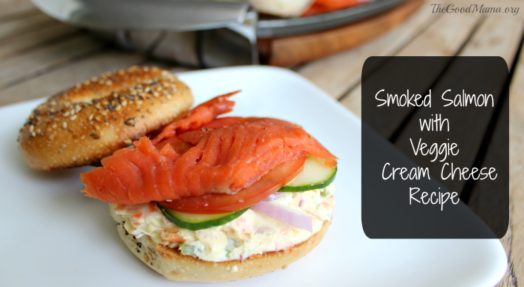 Smoked Salmon with Veggie Cream Cheese Recipe