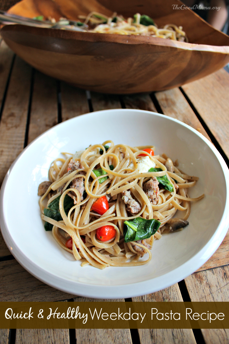 Quick & Healthy Weekday Pasta Recipe