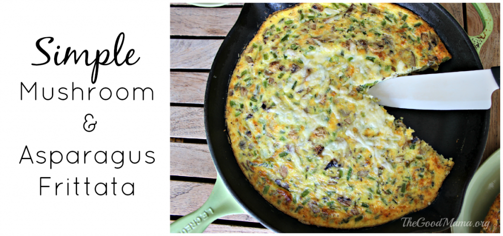 Simple Mushroom & Asparagus Frittata Recipe