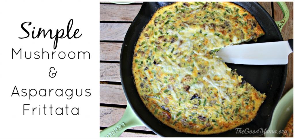 Simple Mushroom & Asparagus Frittata Recipe