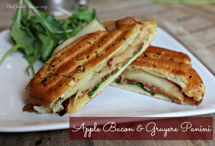 Apple, Bacon & Gruyere Panini Recipe - The Good Mama