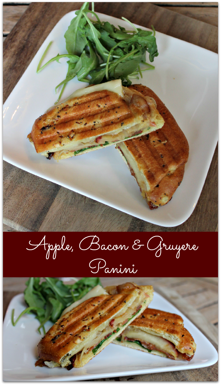 Apple, Bacon & Gruyere Panini- Perfect simple dish for Fall