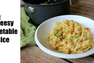 Easy Cheesy Vegetable Rice Recipe