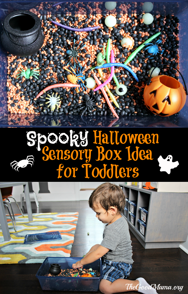 Spooky Halloween Sensory Box Idea for Toddlers