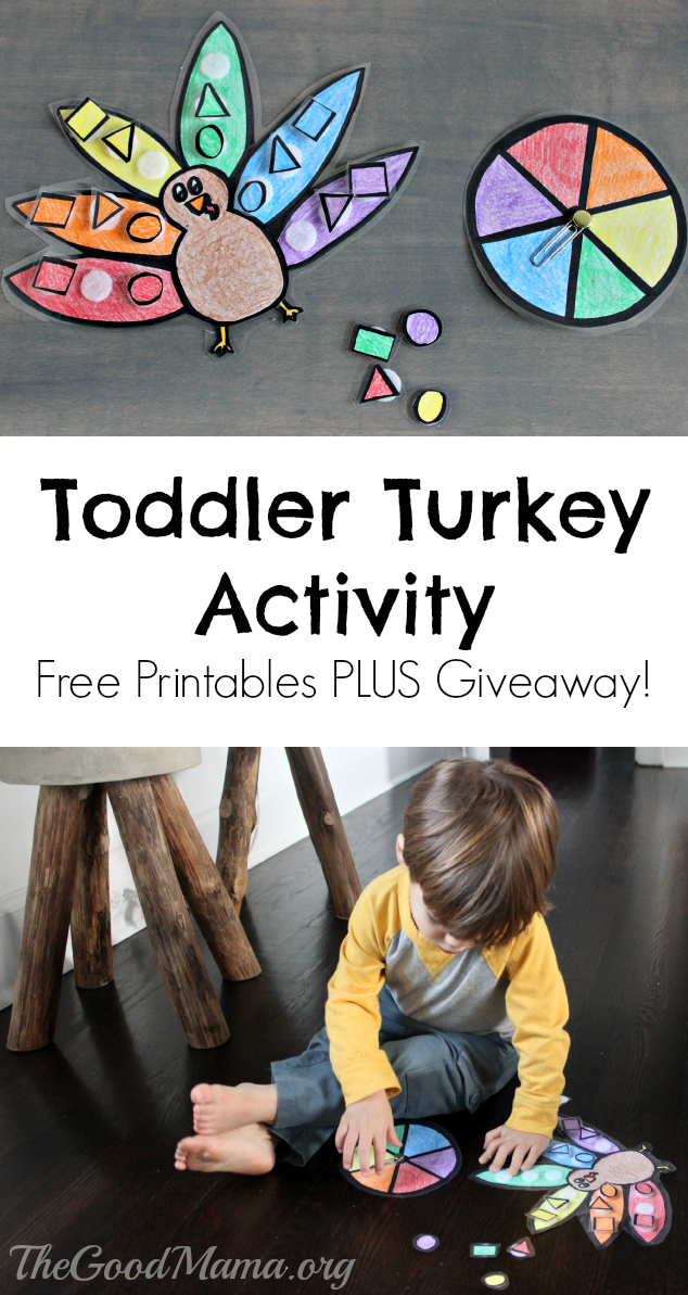 Toddler Turkey Color Match Game with FREE Printables PLUS Giveaway