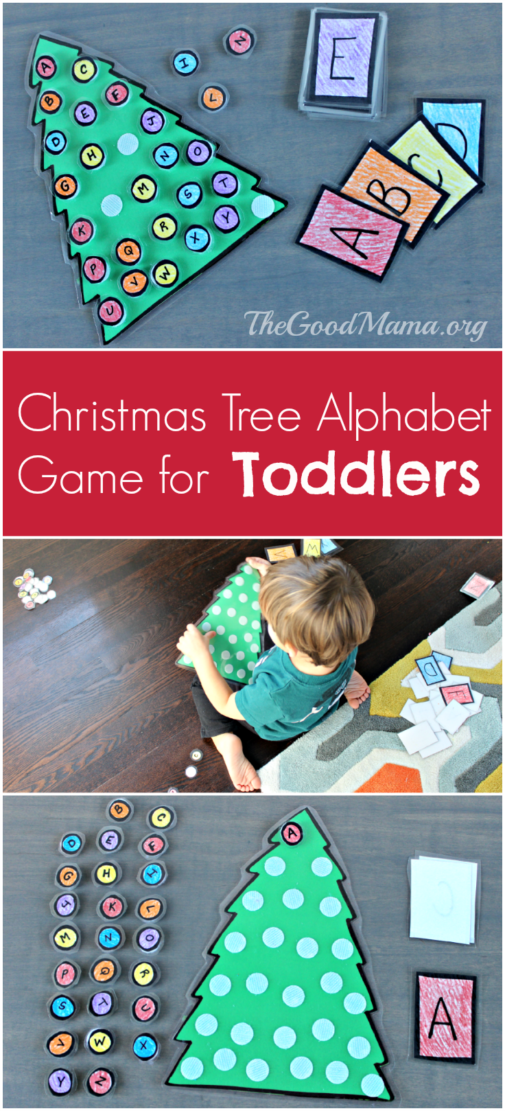 Christmas Tree Alphabet Game for Toddlers