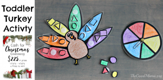 Toddler Turkey Activity- Color Match Game PLUS Giveaway!!