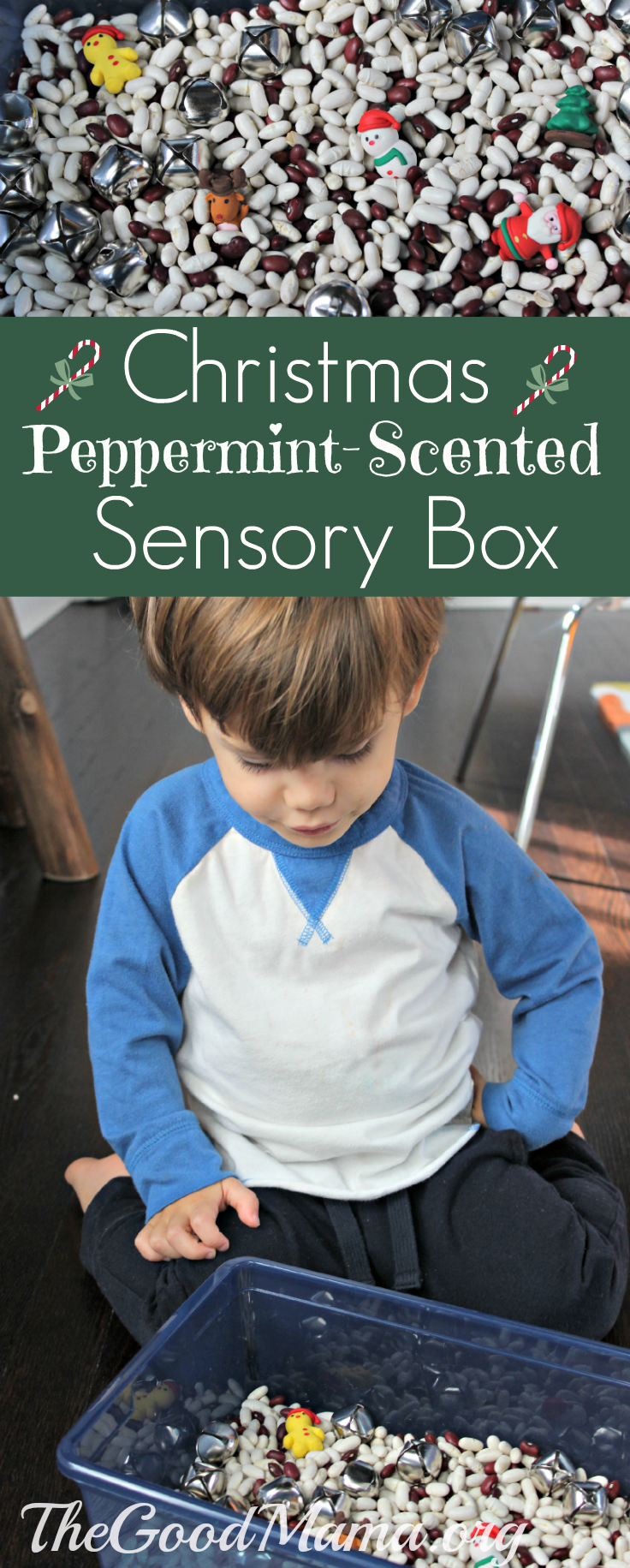 Christmas Peppermint-scented Sensory Box for Toddlers