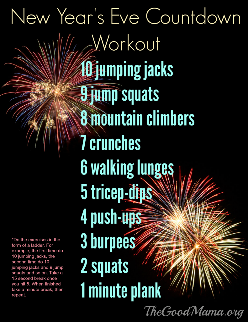 new years eve countdown workout free printable
