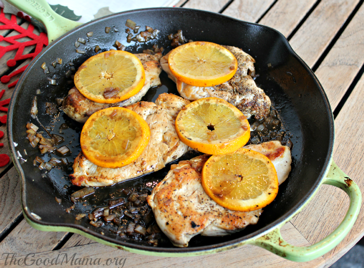 Sauteed Chicken with Orange Sauce Recipe