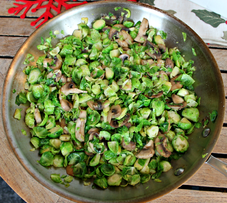 Shredded Brussels Sprouts and Mushrooms Recipe