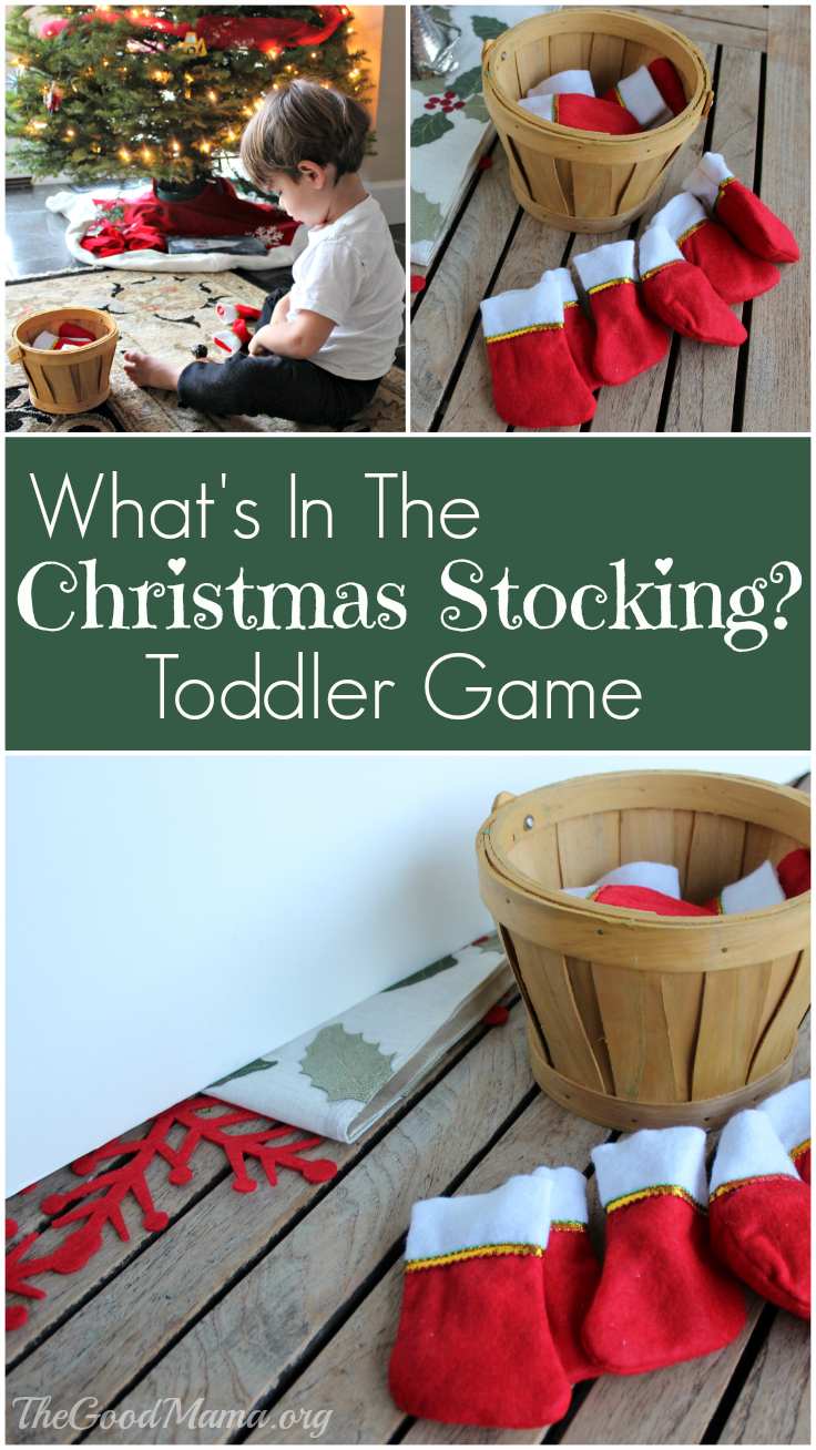 What's in the Christmas Stocking? Toddler Game
