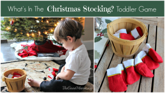 What's In The Christmas Stocking Toddler Game