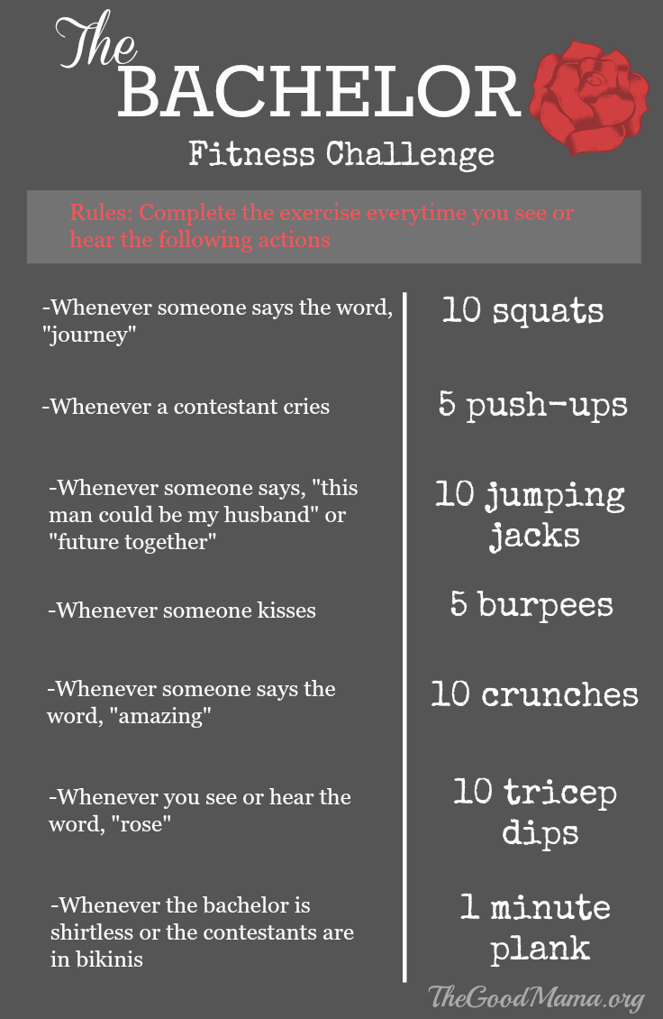 The Bachelor Fitness Challenge