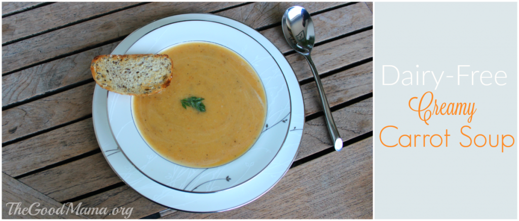 Dairy-Free Creamy Carrot Soup Recipe