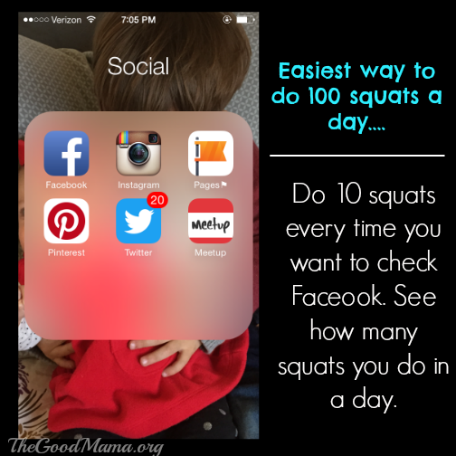 Facebook Fitness Challenge- squats