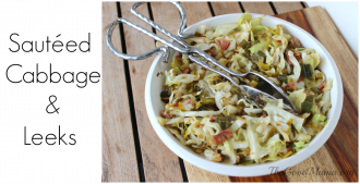 Sauteed Cabbage and leeks recipe