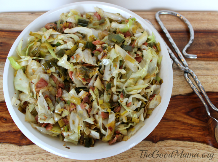 Sautéed Cabbage and Leeks Recipe