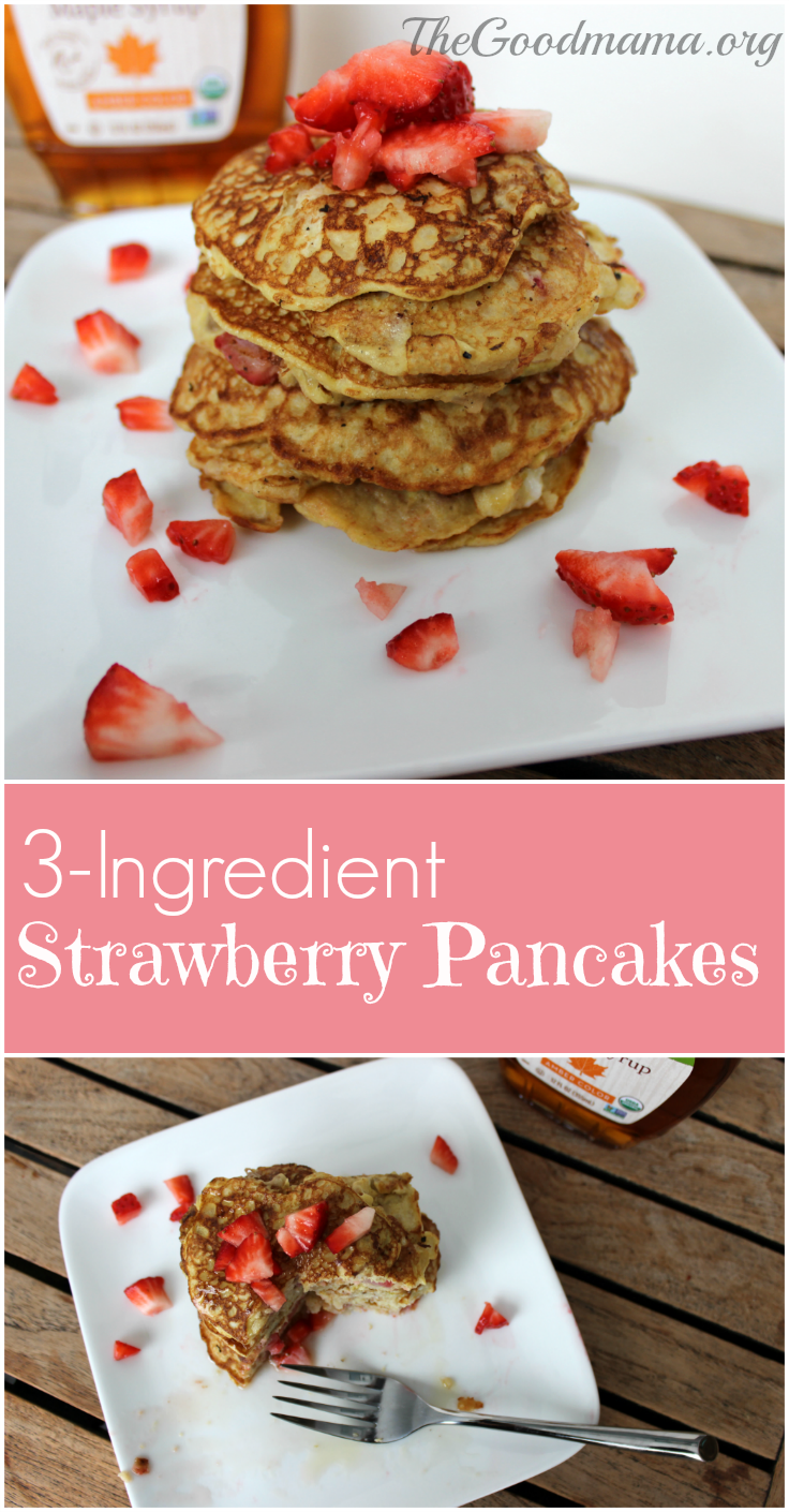3-ingredient strawberry pancake recipe!