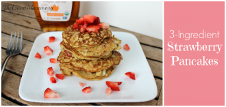3 Ingredient Strawberry Pancake Recipe