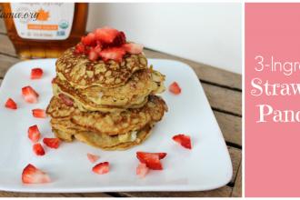3 Ingredient Strawberry Pancake Recipe